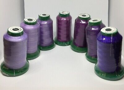 Exquisite Polyester Embroidery Thread SHADES OF PURPLE