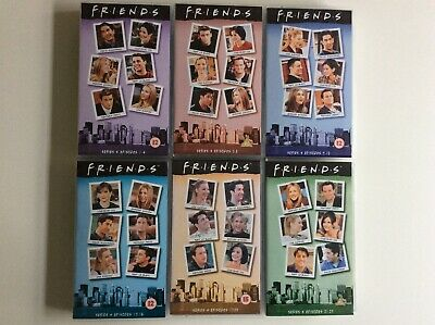 6 FRIENDS vhs videos. Complete Series 4 Episodes 1-23