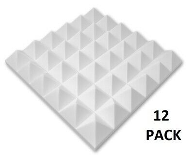 "12 Pack Pyramid Acoustic Foam Studio Soundproofing Wall insulation 2""x 12""x 12"""