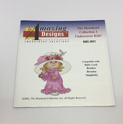 Embroidery Amazing Designs  The Morehead Collection I Undercover  Kids Card