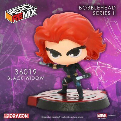 "Marvel Super Hero Remix Bobble Head Series II Black Widow Avengers 5"" figure"