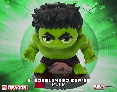 "Marvel Super Hero Remix Dragon Model Bobble Head HULK  Avengers 5"" figure"