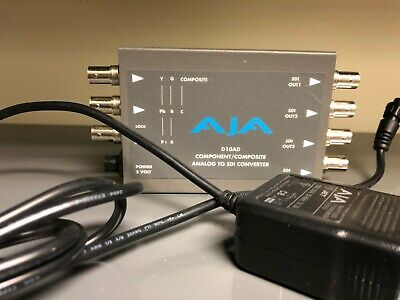AJA D10AD Analog to Digital Video Converter Encoder w/ Power Supply 10 Bit SDI