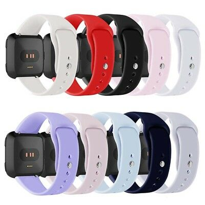 FT- Sport Solid Silicone Smart Watch Band Strap Bracelet for Fitbit Versa Reliab