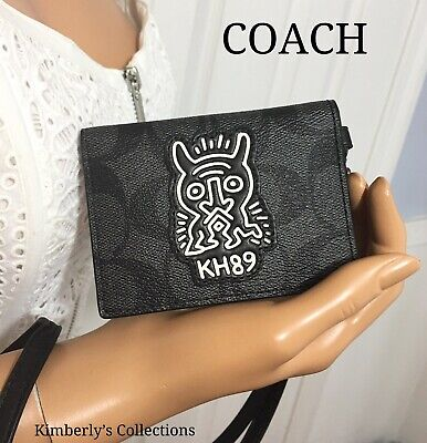 COACH Lanyard Ltd Keith Haring ID Work Office Badge Card Holder New Rare