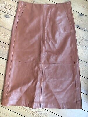 Hector leather skirt tan light brown Finery London size 10 new without tags