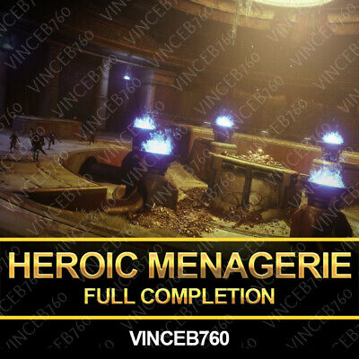 Destiny 2 - The Menagerie Heroic Guaranteed 24 Hour Completion - PS4