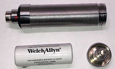 WELCH ALLYN 71670 3.5v RECHARGEABLE HANDLE WITH BATTERY~LIGHTNING FAST FREE SHIP
