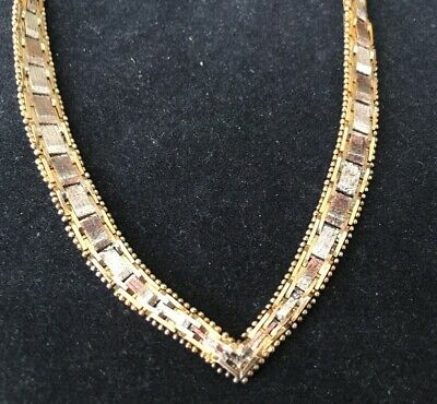NICE Vintage Necklace Marked Gold on STERLING SILVER 925 Chain Jewelry lot v