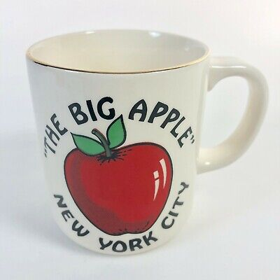 Vintage New York City The Big Apple NYC Souvenir Ceramic Coffee Mug Cup Gift