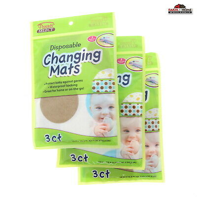 (3) Disposable Baby Changing Mats Pads ~ New