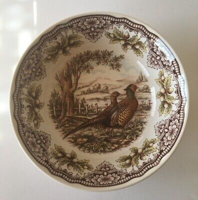 Victorian English Pottery Homeland Pheasant Cereal Soup Serving Bowl