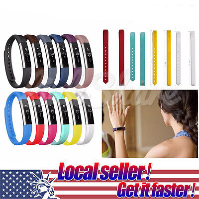 Silicone Watch Band Wrist Strap Replacement For Fitbit Alta Tracler S/L Colors t