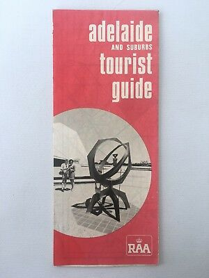 Vintage 1970s ADelaide & Suburbs Tourise Guide Map