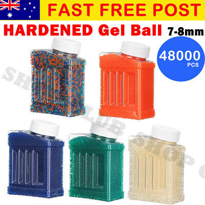 NEW 48000pcs HARDENED 7-8mm Gel Ball Ammo Crystal Water Bead Gel gun Toy Blaster