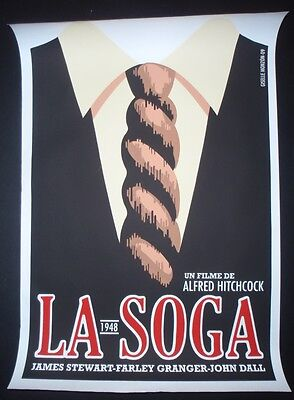 3 Day Sale ROPE Cuban Silkscreen Tribute Poster for Alfred Hitchcock Movie CUBA