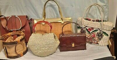 8ea89ef6a29 LOT OF VINTAGE Six 60's/70's Women's Pocketbooks