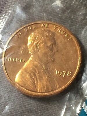 1978-P 1C Lincoln Memorial Cent BU In US Mint Cellophane #121618 #20