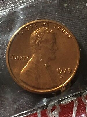 1978-D 1C Lincoln Memorial Cent BU In US Mint Cellophane #121618 #17
