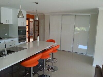2 Sliding Coloured Glass Wardrobe Doors 2100mm to 2400mm wide x 2100mm high