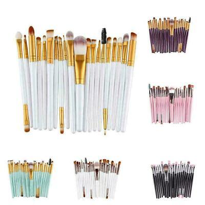 20pcs Makeup Brushes Kit Set Powder Foundation Eyeshadow Lip Brush Eyeliner Y0R4