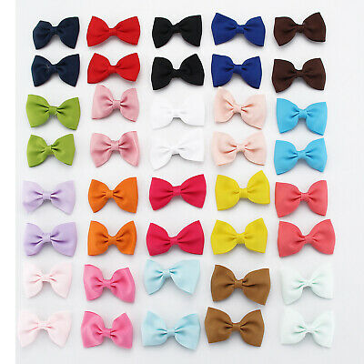 Handmade Bow Hair Clip Alligator Clips Girls Ribbon Kids Sides Boutique 40PCS