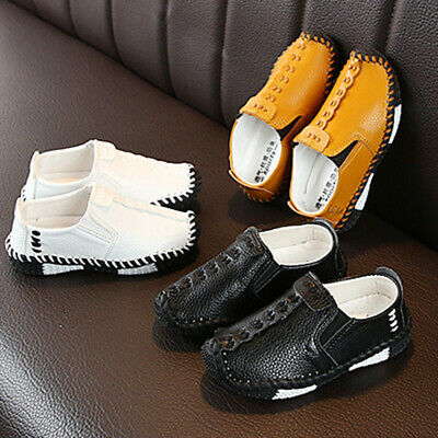 24-28 Children Toddlers Boys Loafers Leather Flat Shoes Kids Soft Non-Slip New
