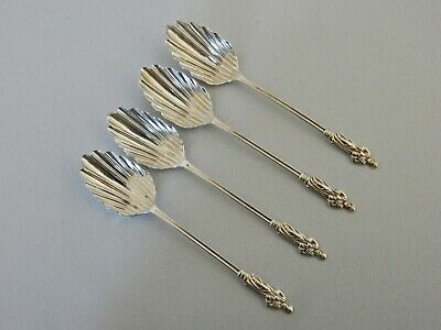 Antique Edwardian 1903 Pair Sterling Solid Silver Apostle Spoons Shell Teaspoon