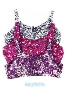 """""""Comfort Choice""""100% Cotton Floral Print Wire-Free Full Coverage Bras Plus Size"""