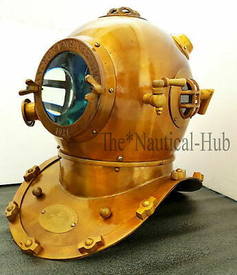 "Divers Diving Helmet Mark V 18"" Deep Sea Anchor Engineering 1921 Replica Helmet"