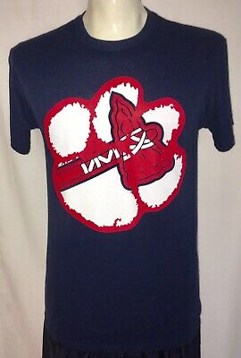 Atlanta Braves Baseball Clemson Tigers Football Blue T Shirt MLB NCAA Mens Med