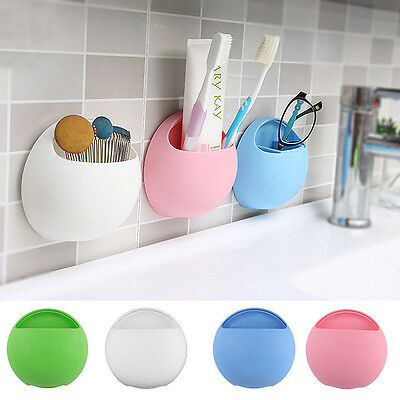 1 Pcs Wall Mount Holder Sucker Suction Cups Home Bathroom Toothbrush Holder