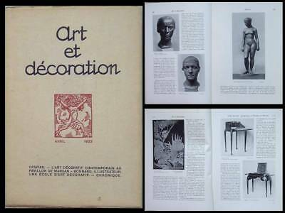 Art Et Decoration -Avril 1923- Despiau, Art Deco, Sue Et Mare, Ruhlmann, Bonnard