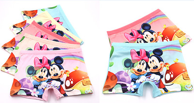 wholesale Girl Boxer Brief Underwear Mickey Mouse Minnie Cartoon Panties Gift Uk