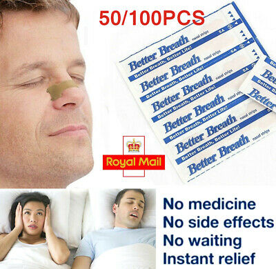 Better Breath Nasal Nose Strips Right Easy Stop Anti Snoring Sleeping - football