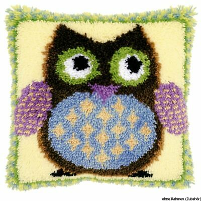 Vervaco Latch hook kit cushion Mr. owl, DIY
