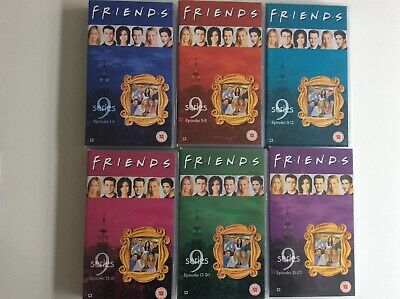 6 FRIENDS vhs videos. Complete Series 9  Episodes 1-23