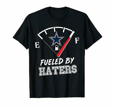 Fueled By Haters Dallas Cowboys Flags NFL Black T-Shirt For Football Fans S-6XL