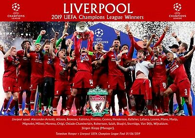 Liverpool champions league poster #3 - A4 - 210mm x 297mm NEW