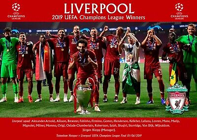 Liverpool champions league winners poster #4 - A4 - 210mm x 297mm NEW