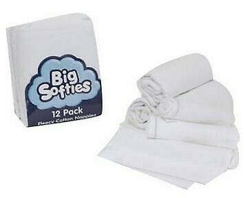 Big Softies Flannelette Nappy Blue Line