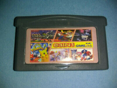 Cartucho Multijuego Gameboy Advance Con Juegos Clasicos 83 In 1 Gba Gbc Game Boy