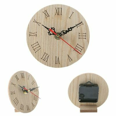 Vintage Rustic Wooden Wall Clock Antique Chic Retro Home Kitchen Decor Prop Nice
