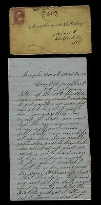 77th Illinois Infantry CIVIL WAR LETTER from Memphis - Rebel Guerrillas Nearby