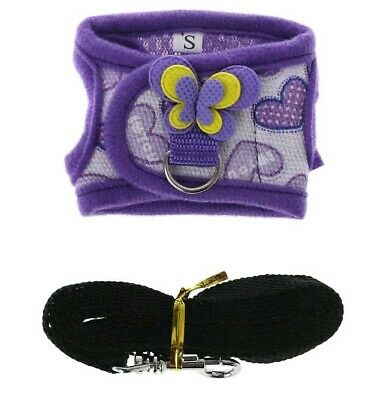 Gerbil Hamster Rat Teacup Chihuahua Puppy Tiny Animal Pet Harness Coat (Purple )