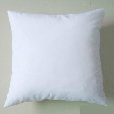 Cushion Cover Pillowcase White Linen Sublimation Printing Transfer Stylish Gift