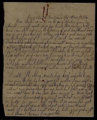 28th Maine Infantry CIVIL WAR LETTER from Camp Chelmette in New Orleans NICE !