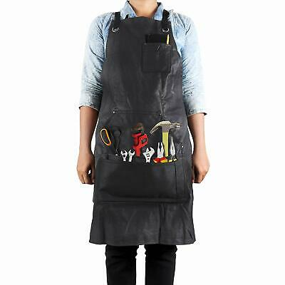 Work Apron 5 Pocket Waterproof Waxed Canvas Engineer Carpenter Workshop Garage