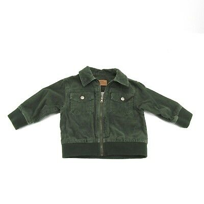 canyon river blues baby child boys jacket size 18 months cotton green full zip