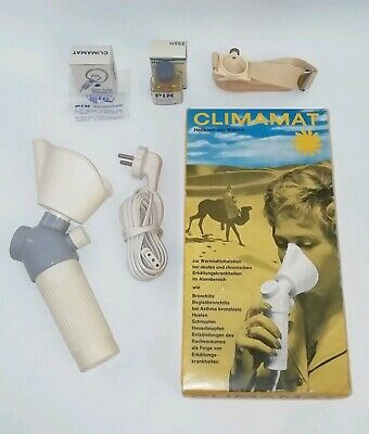 Antiker CLIMAMAT Warmluft Inhalator tragbares Inhalations System in OVP TOP